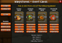 Warpstones event cards
