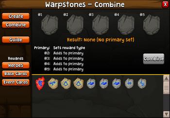 Warpstones combine