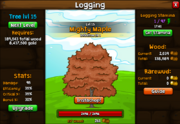 Logging screen