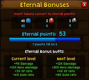 Eternal bonuses level 3