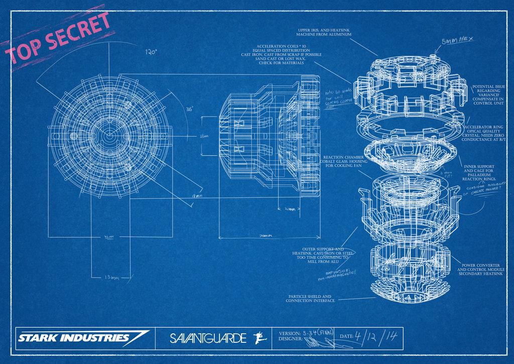 Image - Arc reactor blueprint by savantguarde-d8b19zb.jpg | Infinite
