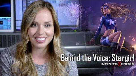 Behind the Voice Natalie Lander as Stargirl