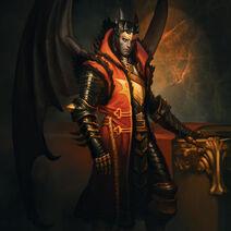 Crimson Lord Nightmare Batman Costume Skin Art