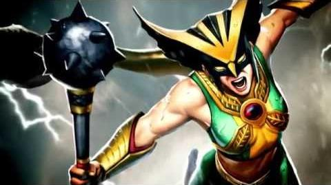 Behind the Voice María Canals Barrera as Hawkgirl