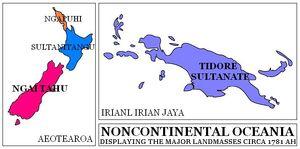 Noncontinetal Oceania