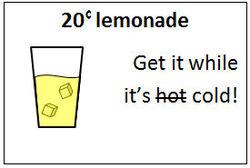 20 cent lemonade