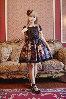 Neverland-lolita-young-girl-choosing-flower-lolita-chiffon-op-dress-gc-196-5