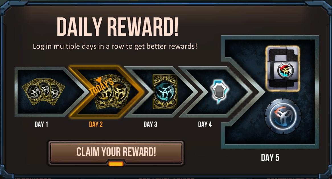 Daily reward | Infinity Wars Wiki | FANDOM powered by Wikia