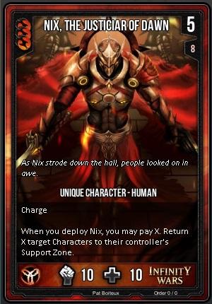 ORDER- Nix, The Justicar Of Dawn T