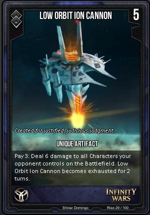 RISE- Low Orbit Ion Cannon