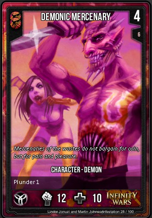 INFESTATION- Demonic Mercenary