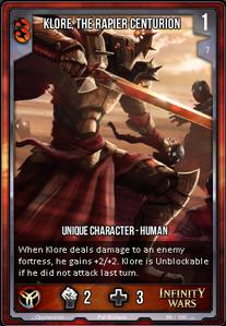 Klore, The Rapier Centurion