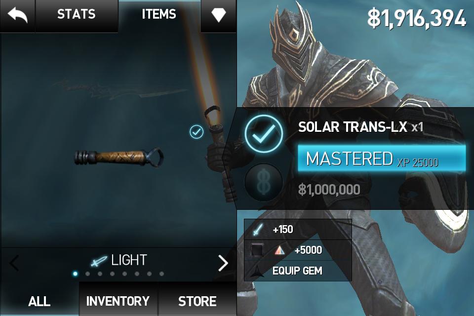 Солар транс dx infinity blade
