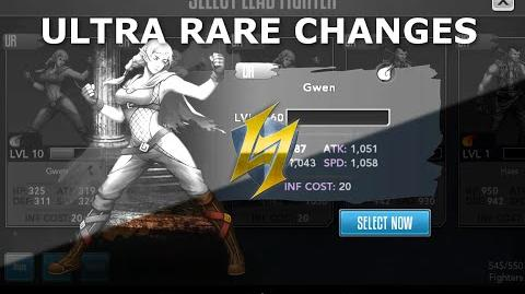 Rage of the Immortals Stat changes for Ultra Rare Fighters