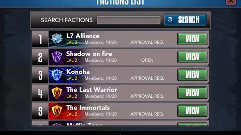 Rage of the Immortals Factions (Guilds)