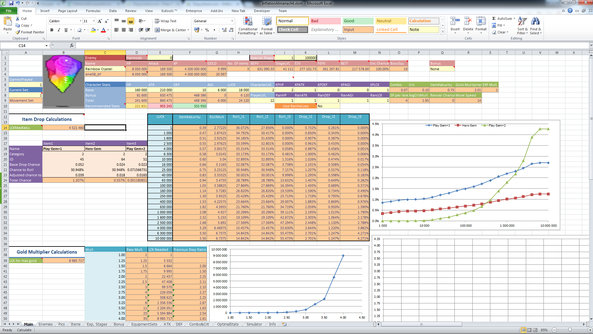 Inflation Almanach - Excel sheet for everything   Inflation