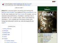 Fallout 4 article infobox at Nukapedia