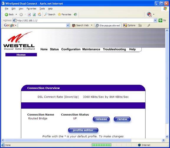 Westell 6100 image008