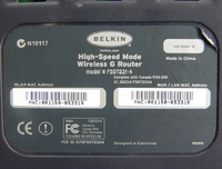 Belkin F5D7230-4 v3000 FCC d