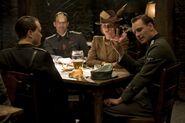 Inglourious Basterds Behind the scenes August Diehl, Michael Fassbender, Gedeon Burkhart