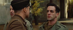 Aldo Raine looks at Utivich