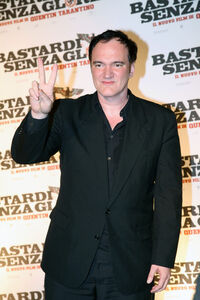 Quentin Tarantino at Inglourious Basterds premiere