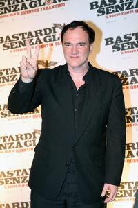 Quentin Tarantino at Inglourious Basterds premiere