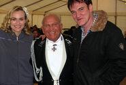 Enzo G Castellari with Diane Kruger and Quentin Tarantino