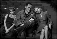 Mélanie Laurent, Quentin Tarantino, Diane Kruger in the Auditorium