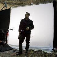 Brad Pitt posing as Aldo Raine