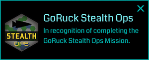 Goruck Stealth (Medal)