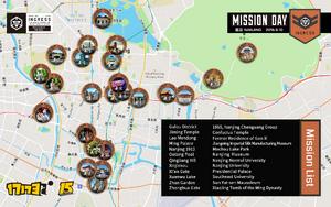 Nanjing Mission Day 任務地圖