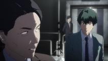 Makoto arrives at the scene