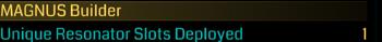 Unique Resonator Slots Deployed