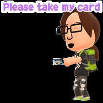 Please take my card