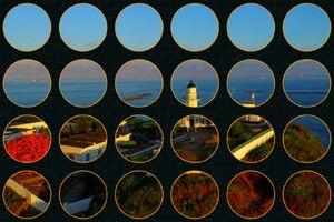 夕陽下的高雄燈塔