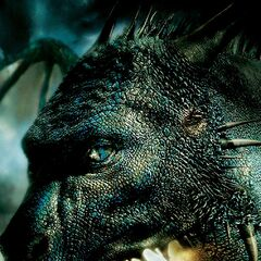 The seventh Eragon poster, bearing a resemblance to the cover of the book, Also showing Saphira's first close-up.