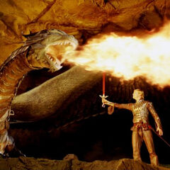 Saphira and Eragon at the Battle of Farthen Dûr