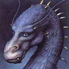 Saphira as seen on the cover of <i><a href=