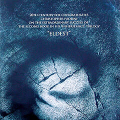 A congratulations one-sheet to Christopher Paolini.