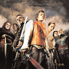 The first poster with a shot of the cast.