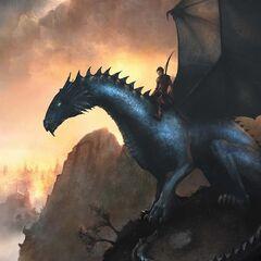 Saphira as seen on the Swedish cover of <i>Eragon</i>