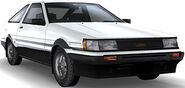 AE86 Levin (Bright White and Black)