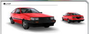 AE85 Levin Red AS0