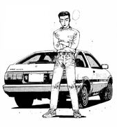 Bunta with AE86