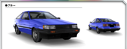 AE85 Levin Blue AS0