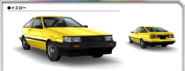 AE85 Levin Yellow AS0