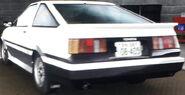Wataru's Levin (Lone Racer, Rear View)