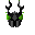 Pixel Art-Armor-Helm-IK-Black-Green