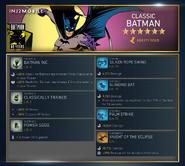 Classic Batman abilities
